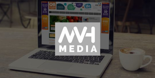 MVH Media magazine website design