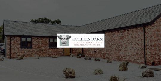 Hollies Barn website design