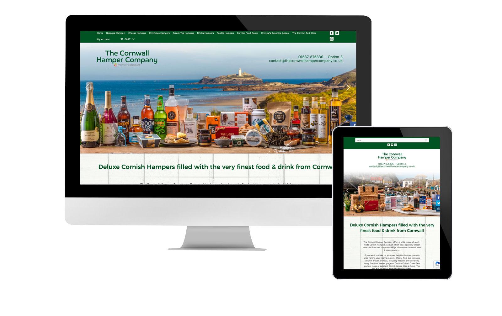 Cornwall Hamper Company website eCommerce
