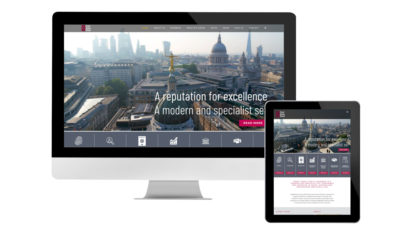Great James Street website design
