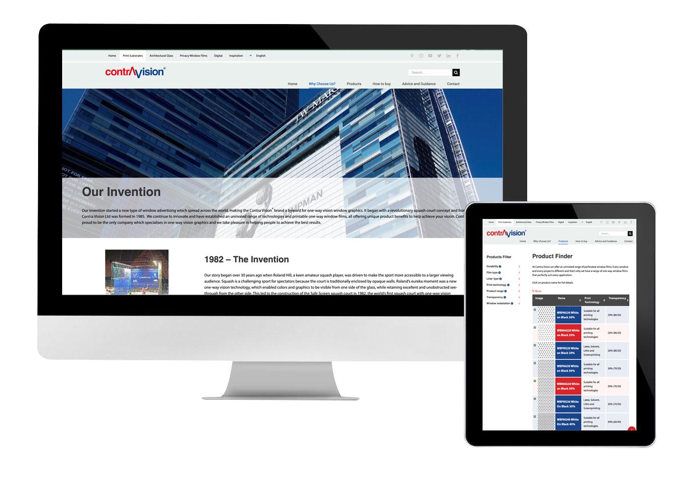 Contra Vision Website design development